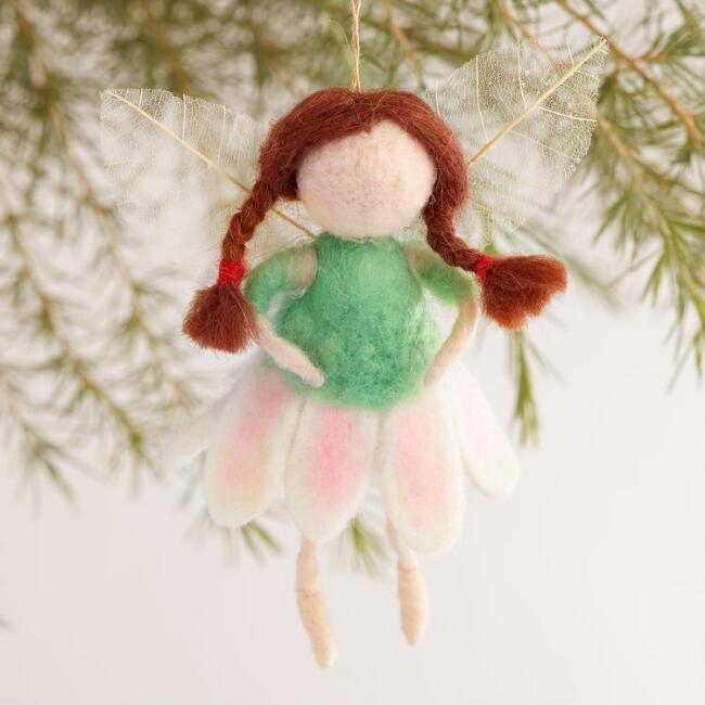 Felt Fairy Ornaments, Set of 3