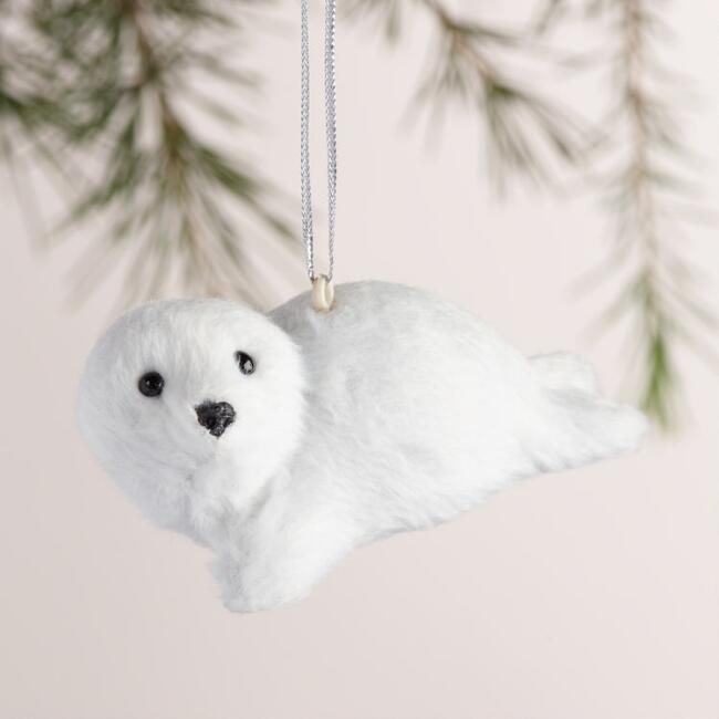 Fabric Arctic Animal Ornaments, Set of 3