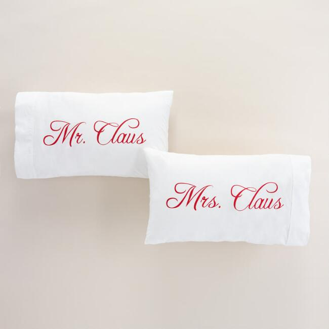 Mr. and Mrs. Claus Pillowcases, Set of 2