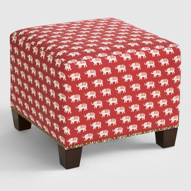 Red Elephant McKenzie Upholstered Ottoman | World Market