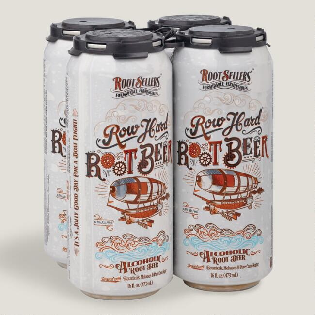 Root Sellers Row Hard Root Beer, 4 Pack