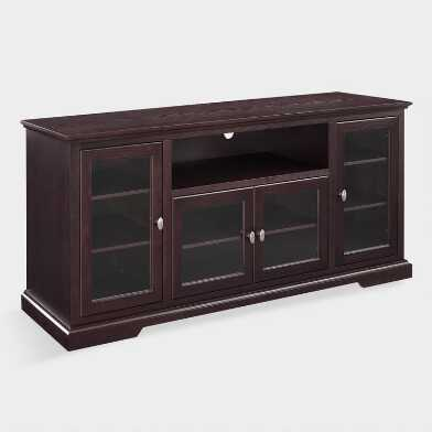 Espresso Wood Rochester Extra Long Media Stand