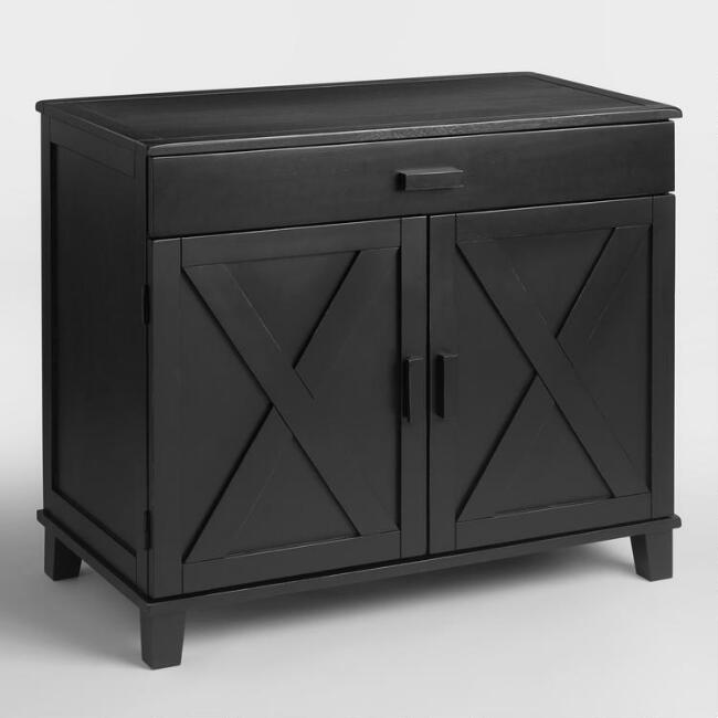 - Antique Black Verona Cabinet Desk World Market