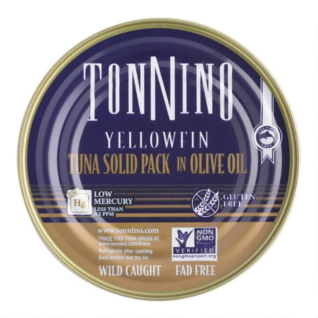 Tonnino Yellowfin Tuna Solid Pack In Olive Oil Set Of 12