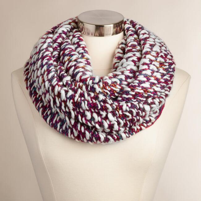 Purple Multicolor Infinity Scarf