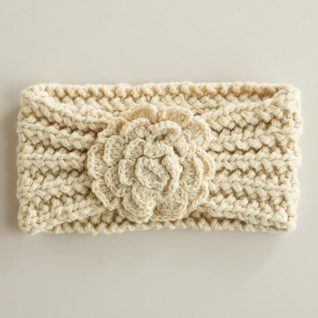 Cream Flower Head  Warmer