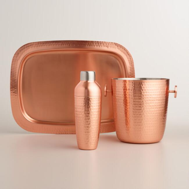 Hammered Copper Barware Collection