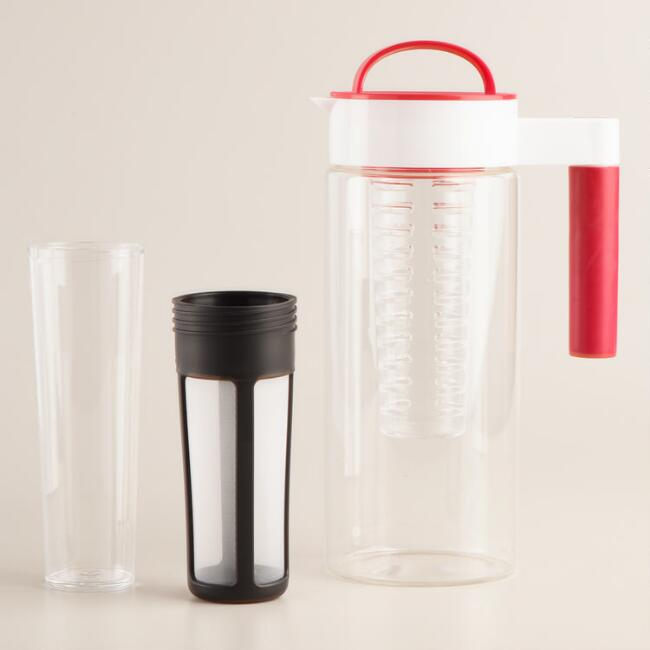 Three in One Glass Infuser Pitcher