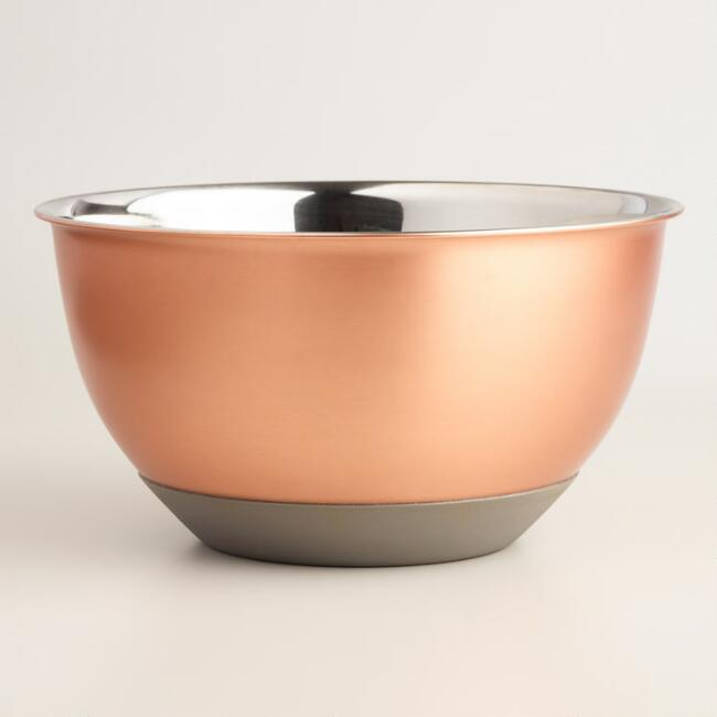 6 Quart Copper Nonskid Mixing Bowl