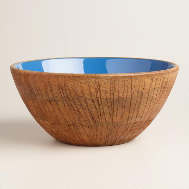 Coconut Wood Salad Serving Bowl