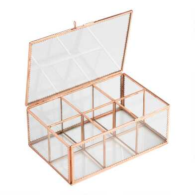 Copper and Glass Tea Storage Box