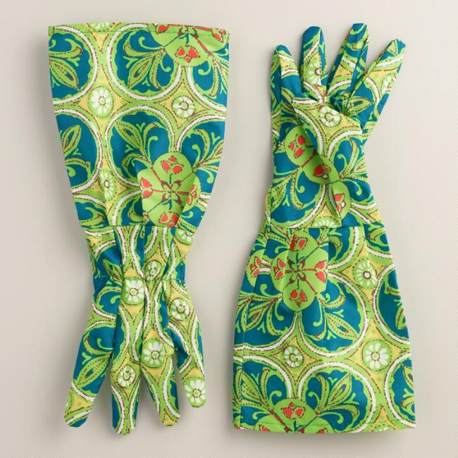 Floral Long Arm Gardening Gloves