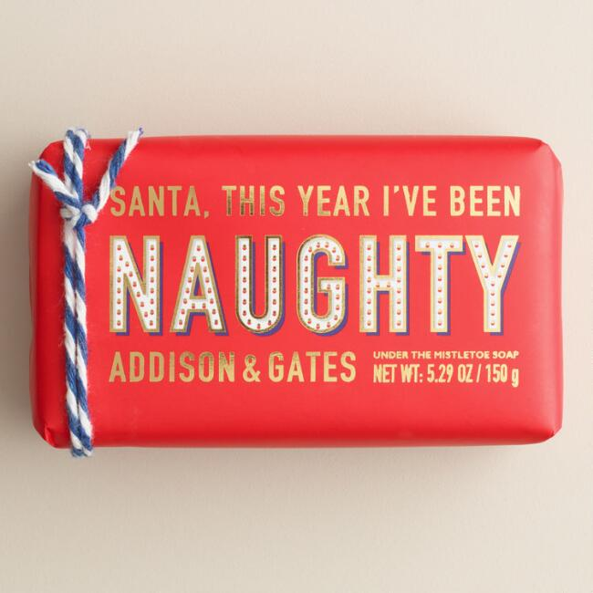 A&G Mistletoe Naughty Bar Soaps, Set of 2