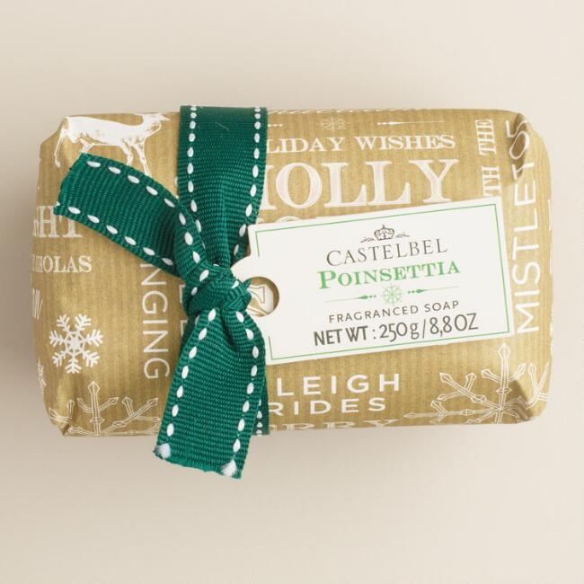 Castelbel Kraft Word Poinsetta Bar Soap