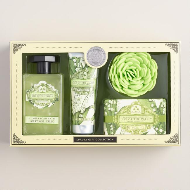 AAA Lily of the Valley 4-Piece Bath Gift Set