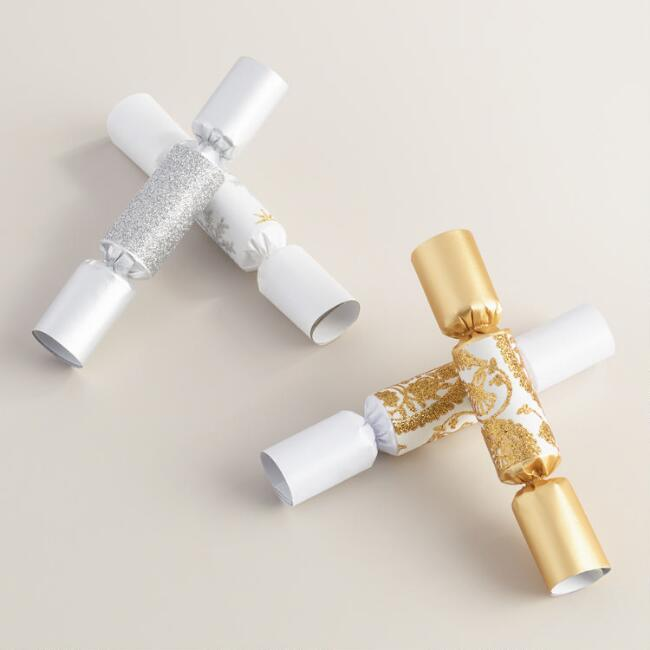 Mini Metallic Crackers, Set of 2