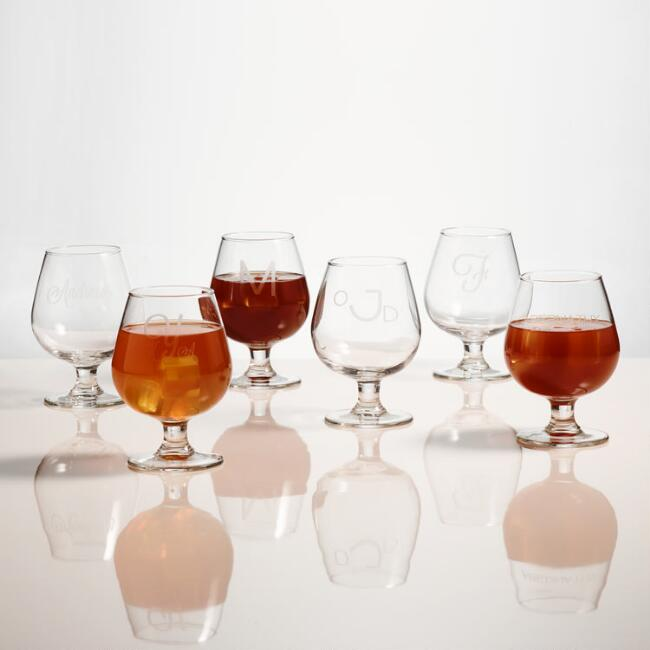 Monogram Brandy Glass, Set of 4