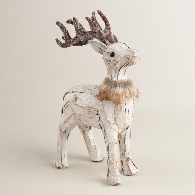 Natural Fiber and Faux Fur Deer