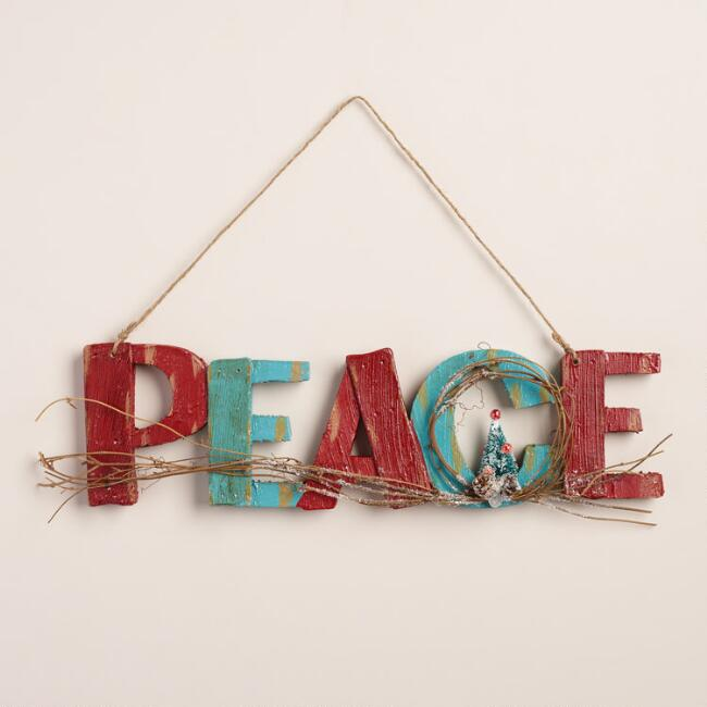 Peace Sign with Tree Wall Decor