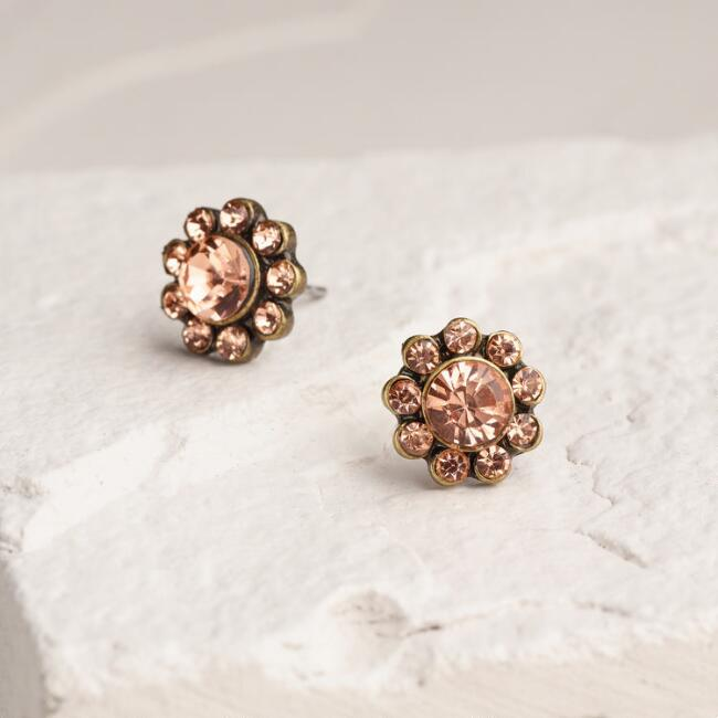 Gold Blush Stud Earrings