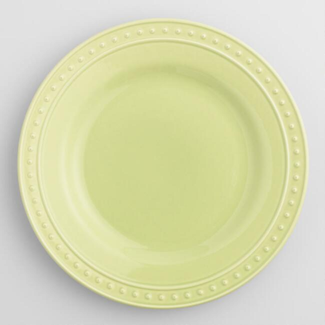 Green Nantucket Dinner Plates, Set of 4