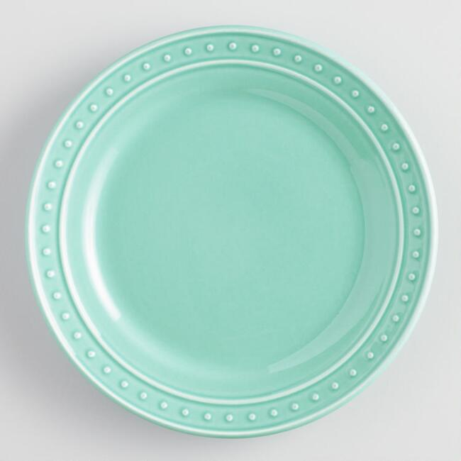 Aqua Nantucket Salad Plates, Set of 4