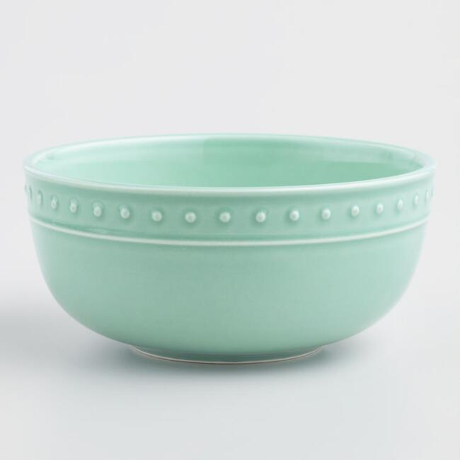 Aqua Nantucket Bowls, Set of 4