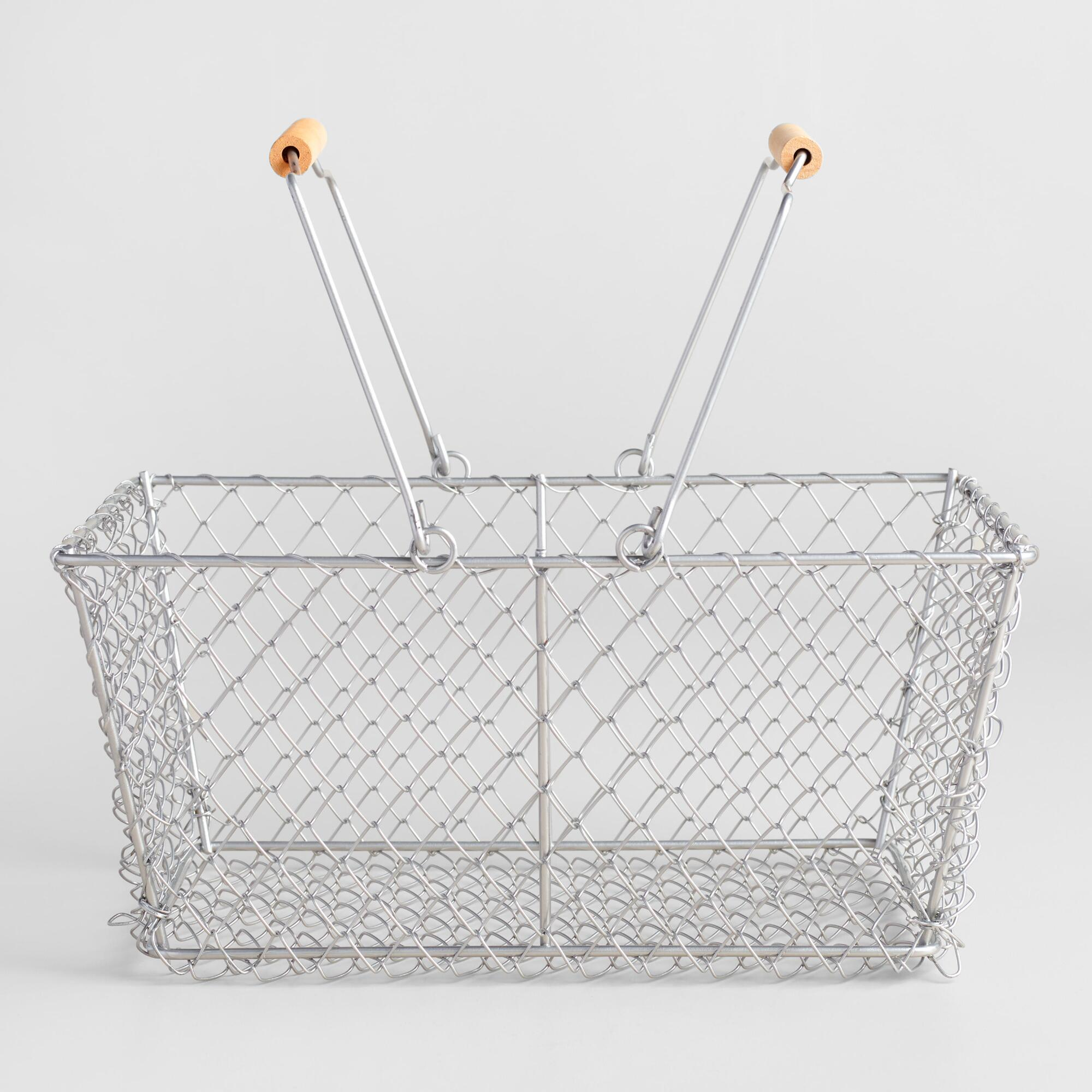 Rectangular Galvanized Wire Basket | World Market