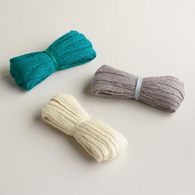 Gray, Green & Natural Jute Ribbon, 3-Pack