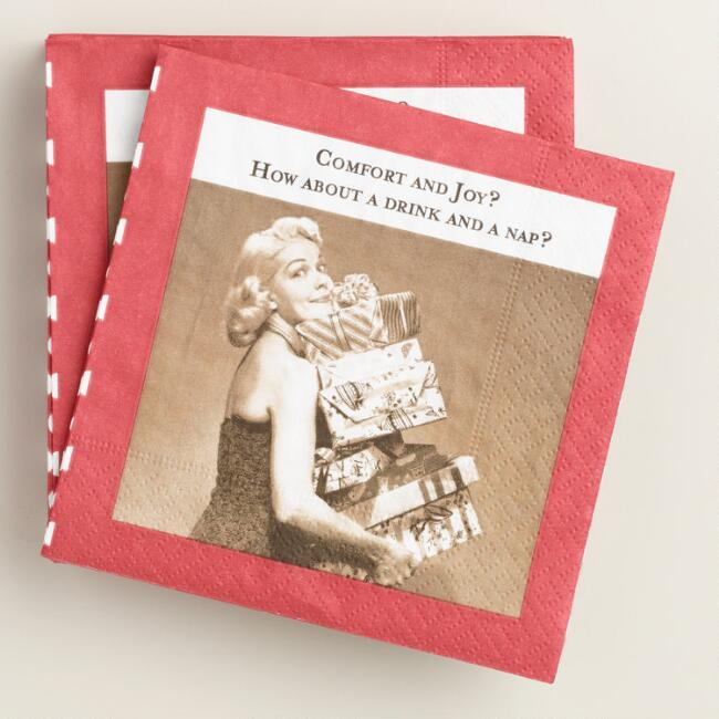 Comfort and Joy Beverage Napkins, 2 Pack