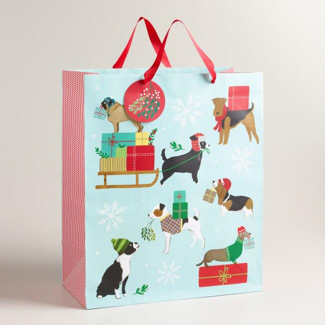 Jumbo Multi-Color Puppies Gift Bag