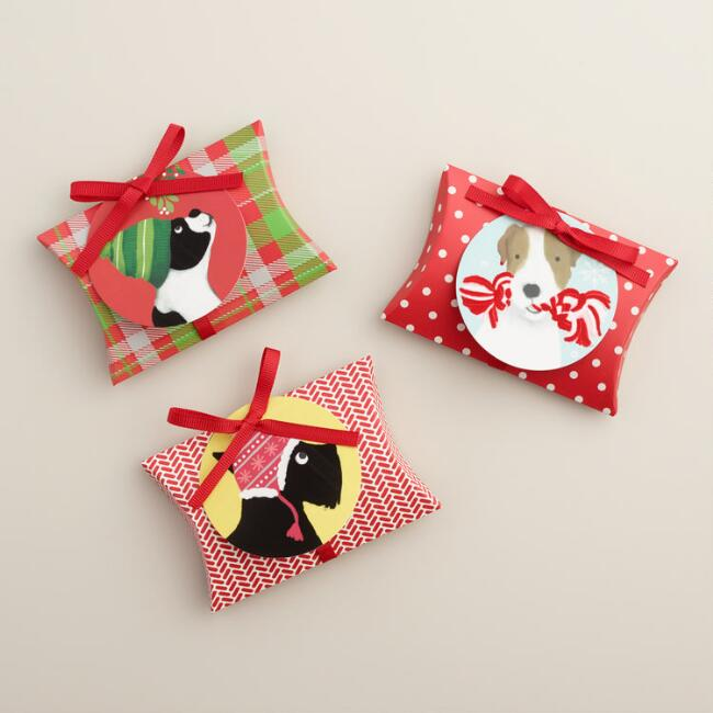 Holiday Puppies Gift Card Pouches, Set of 3