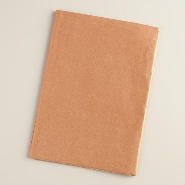 Metallic Copper Tissue Paper, 2 Pack