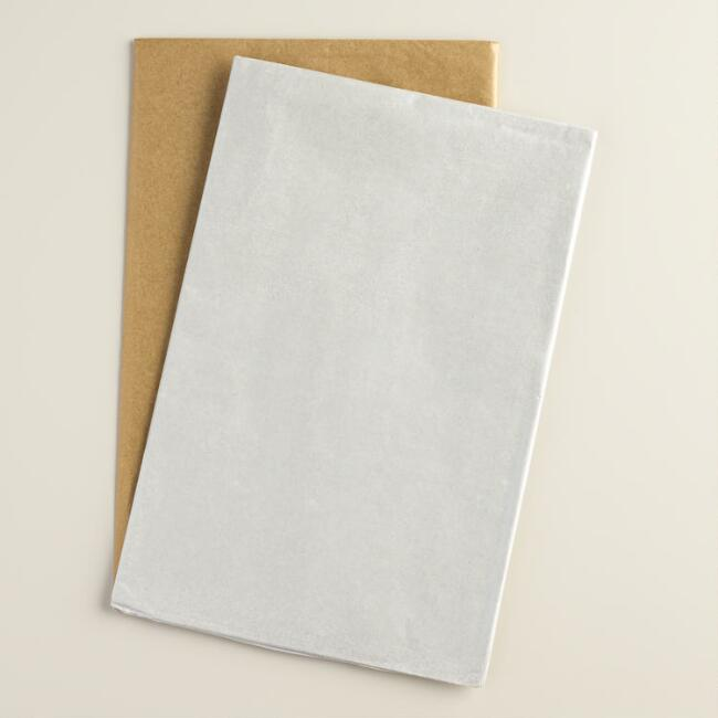Silver and Gold Tissue Paper, 2 Pack