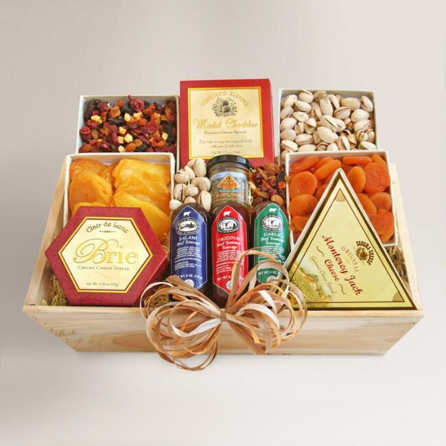 Grand Gathering Meat and Cheese Gift Crate