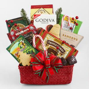 merrymaker sweets and treats gift basket - Christmas Basket Decoration Ideas