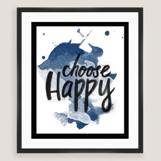 Choose Happy Wall Art