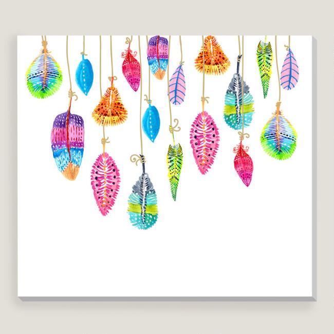 Hand Drawn Colorful Watercolor Feathers by Jane Lane