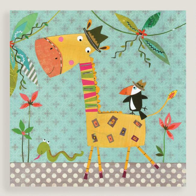 Giraffe and Toucan Wall Art