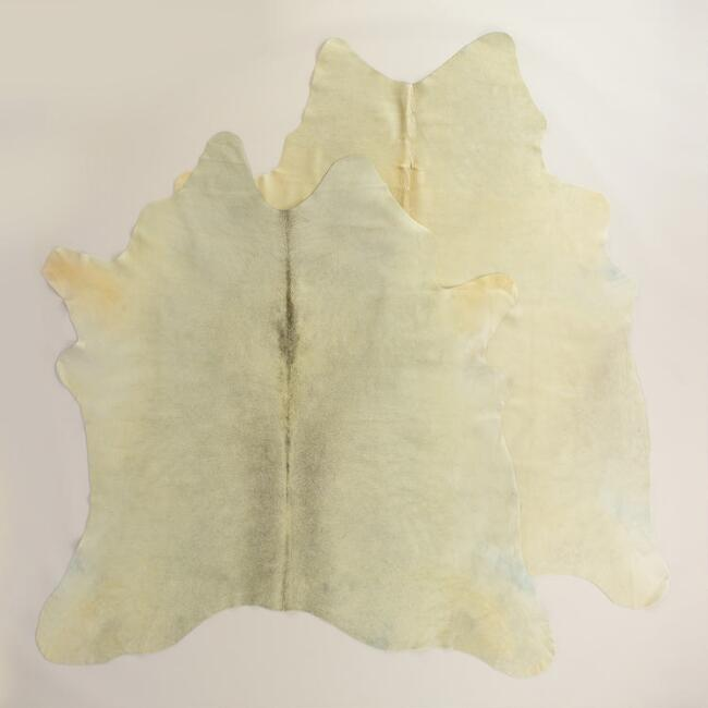5.5'x8' Light Natural Cowhide Area Rug