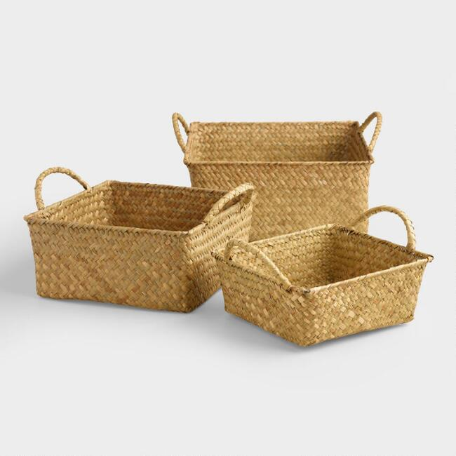 Natural Square Michelle Storage Baskets