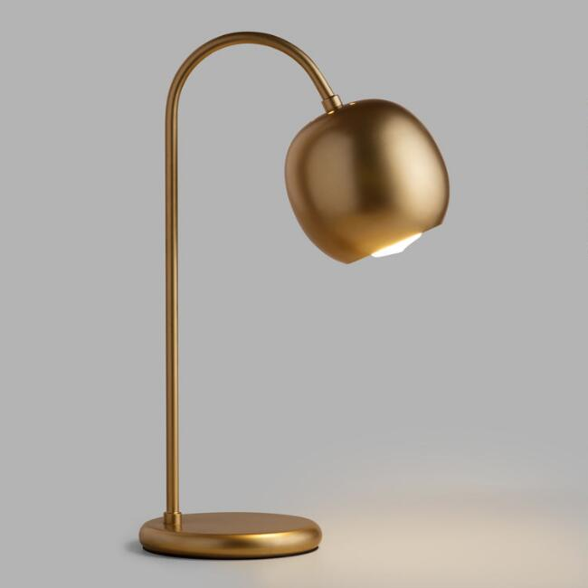 - Antique Gold Scoop Desk Lamp World Market
