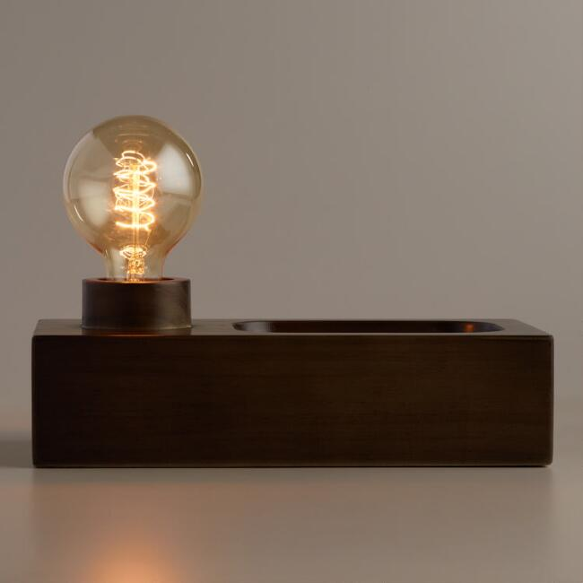 Wood Tray Brooklyn Desk Lamp