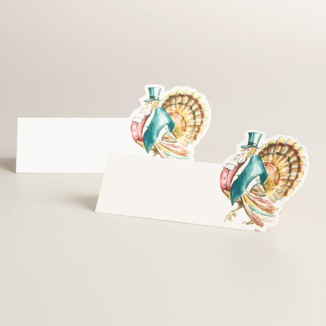 Mr Turkey Thanksgiving Place Cards Set of 12