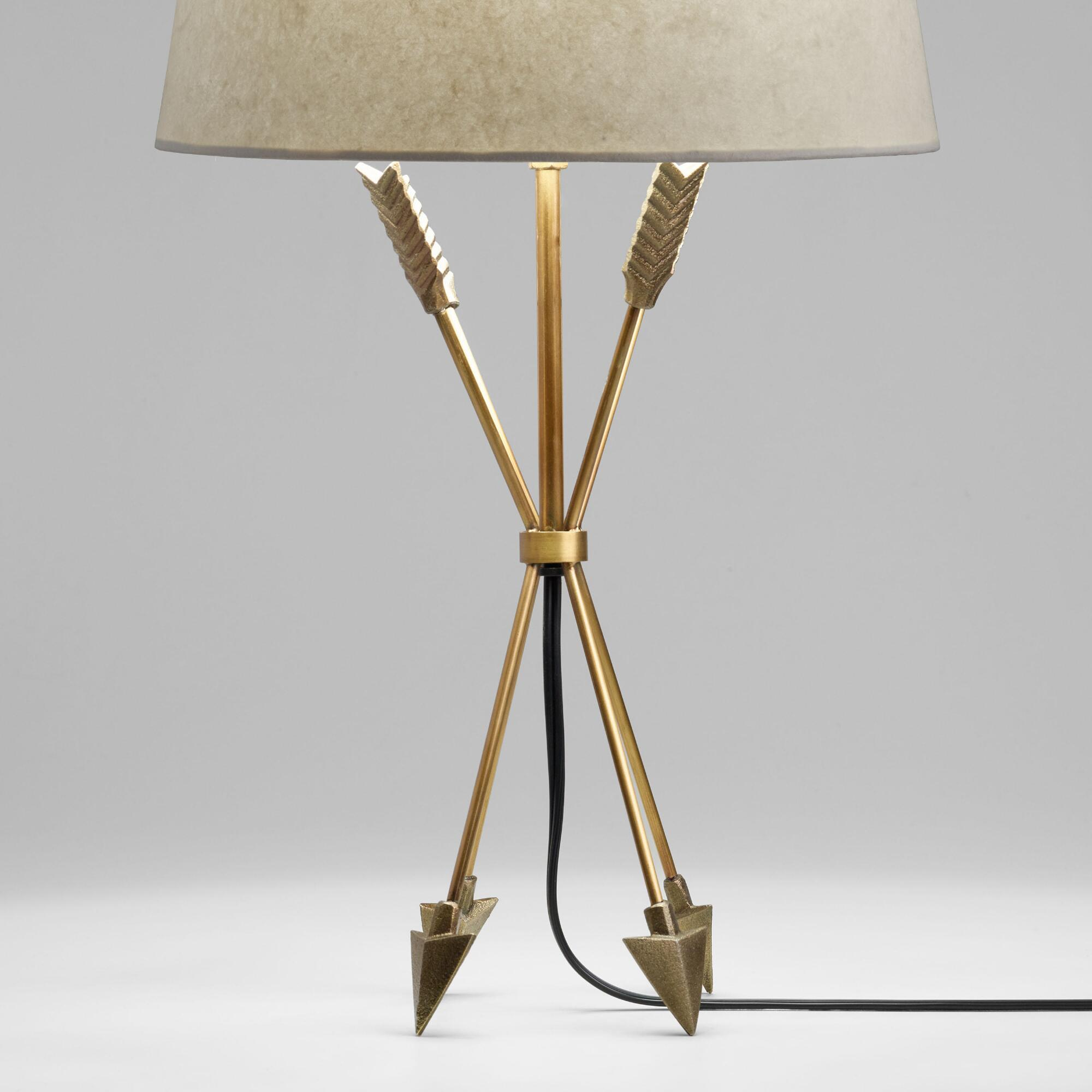Antique brass arrow accent lamp base world market geotapseo Image collections
