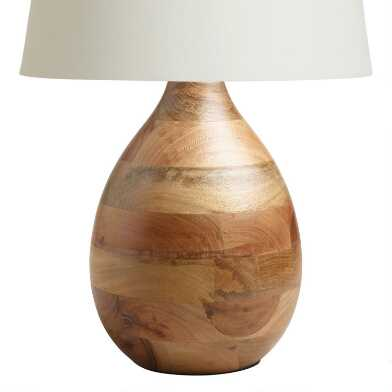 Wood Teardrop Table Lamp Base