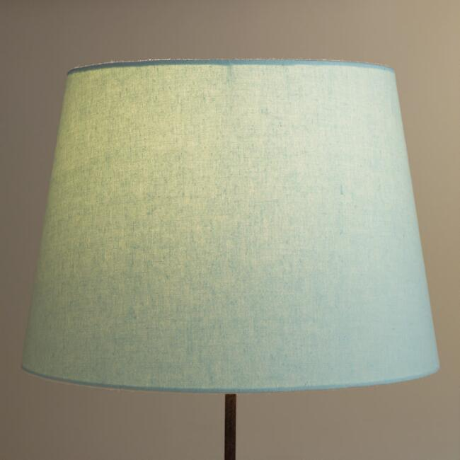 Sea Blue Linen Table Lamp Shade