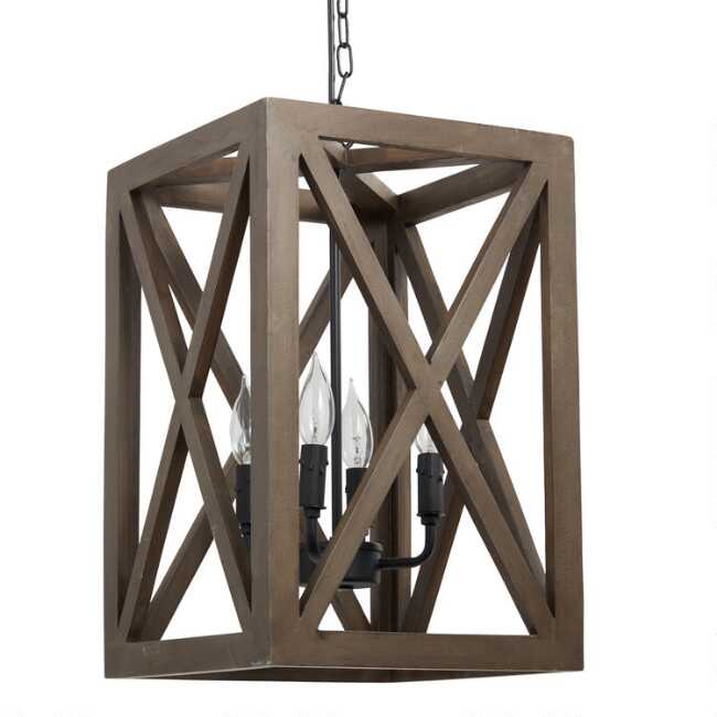 Wood Iron Valencia Chandelier