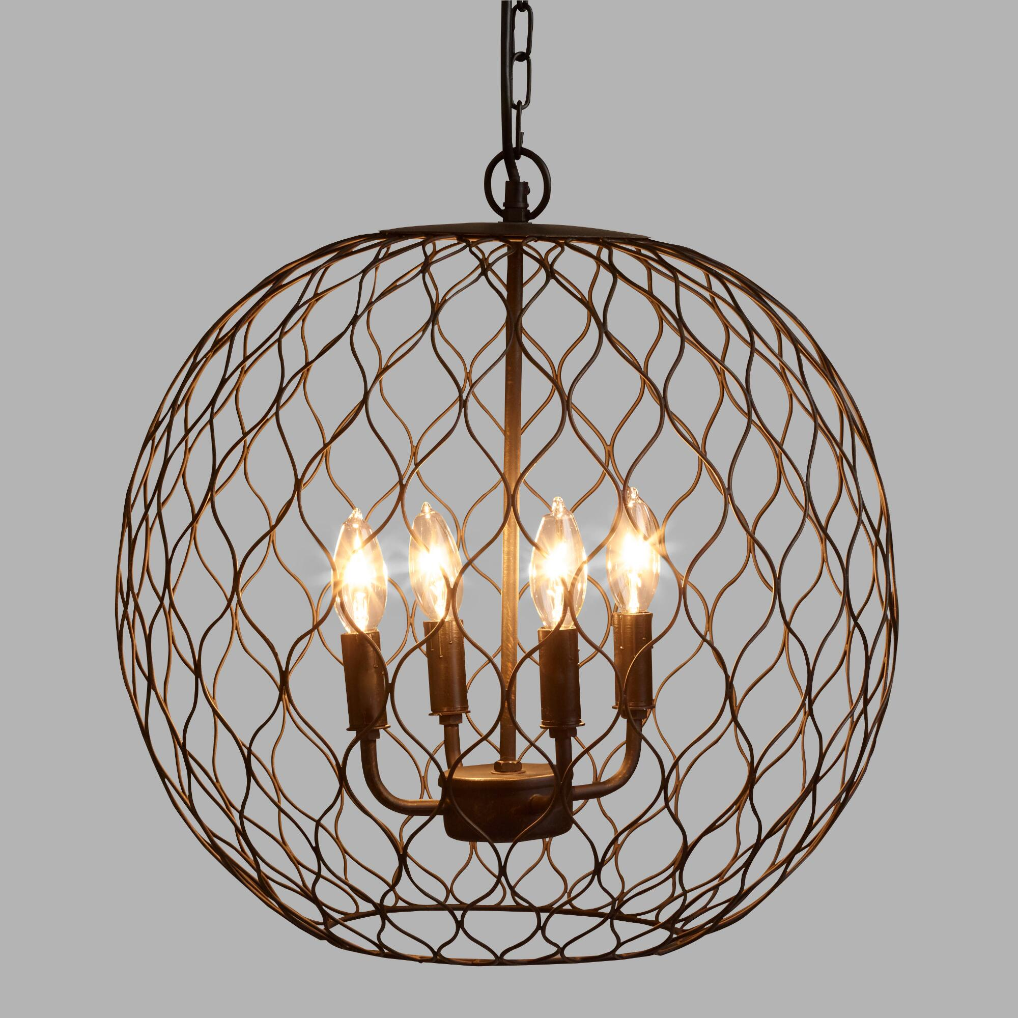 Dark bronze globe farmhouse chandelier world market arubaitofo Images