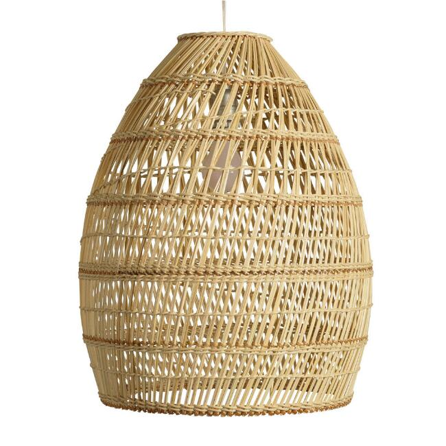 Basketweave Bamboo Pendant Shade
